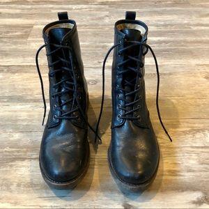 Frye Women's Black Combat Boots